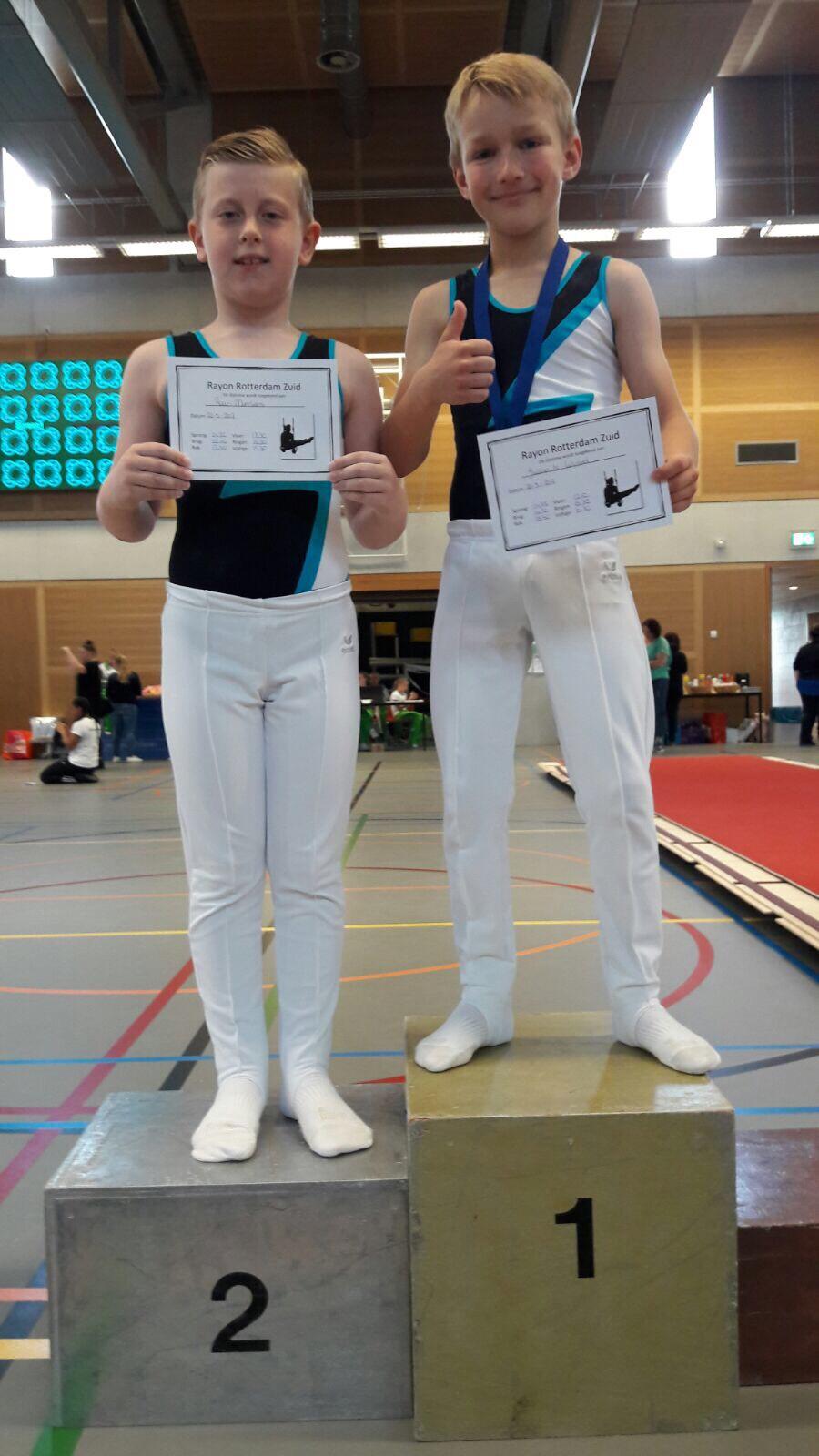 TENACO Jongens veroveren 4 podiumplaatsen in Rayon Rotterdam-Zuid