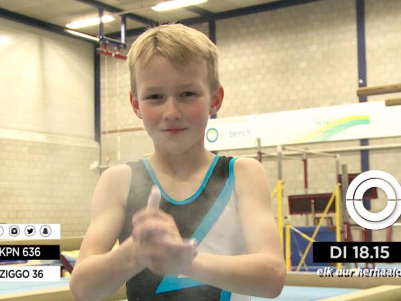 Toptalentje Julian in beeld bij TV zender OPEN Rotterdam!